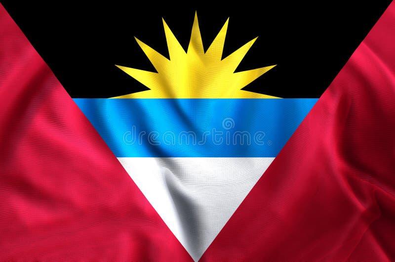 Illustration de drapeau d'Antigua et de Barbuda illustration de vecteur