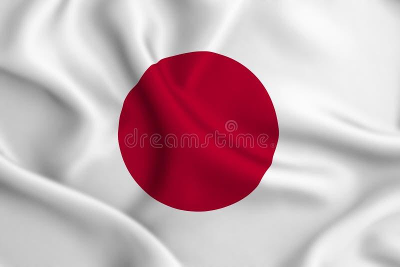 Illustration de drapeau du Japon illustration de vecteur