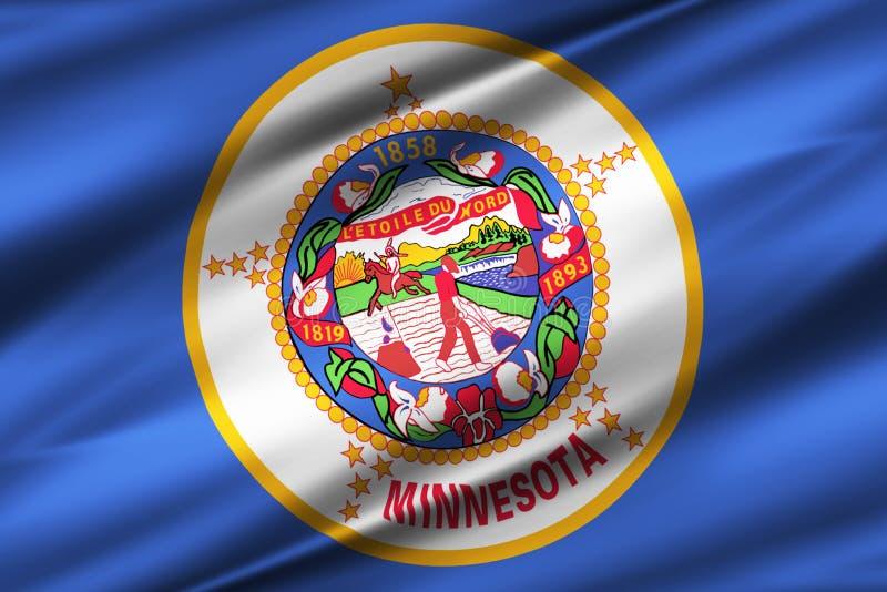 Illustration de drapeau du Minnesota illustration stock