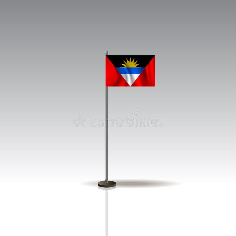 Illustration de drapeau du pays de l'ANTIGUA-ET-BARBUDA illustration de vecteur
