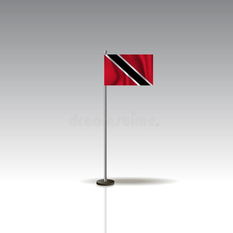 Illustration de drapeau du pays du TRINIDAD-ET-TOBAGO illustration stock