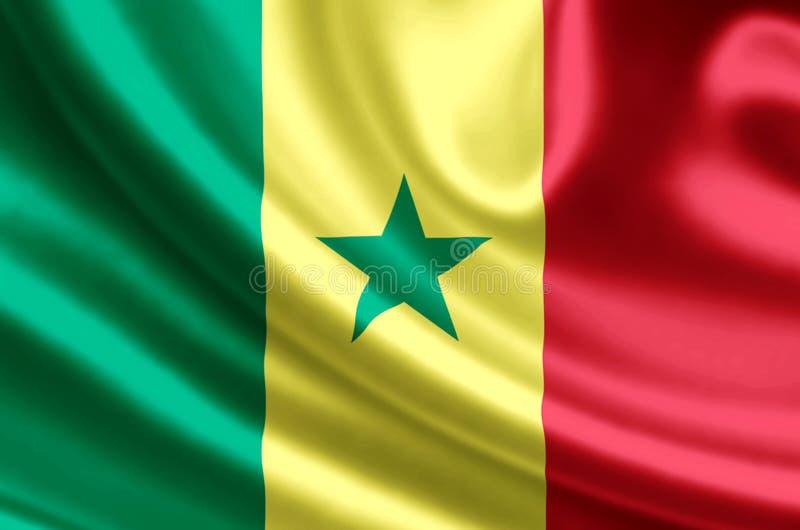 Illustration de drapeau du Sénégal illustration stock