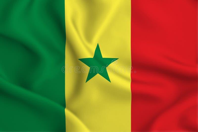 Illustration de drapeau du Sénégal illustration de vecteur