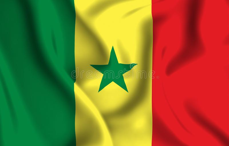 Illustration de drapeau du Sénégal illustration libre de droits