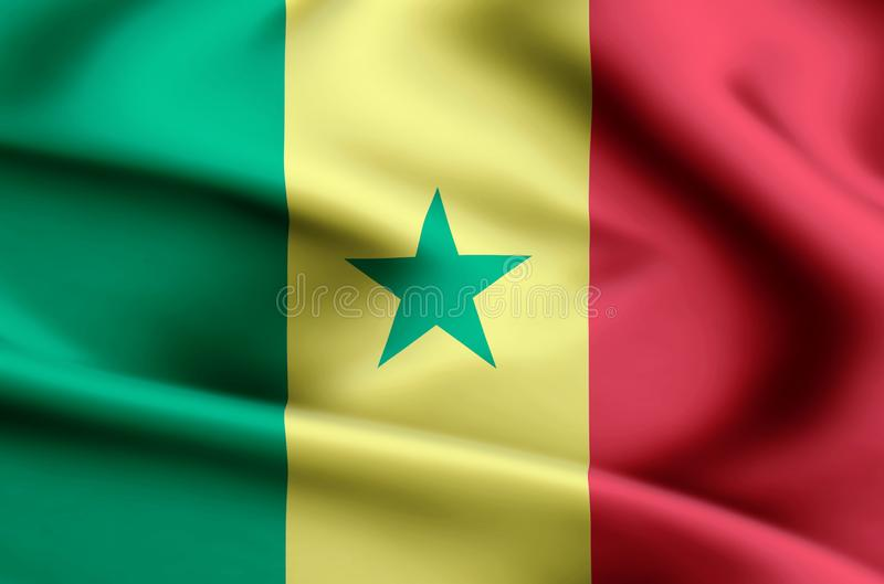 Illustration de drapeau du Sénégal illustration de vecteur