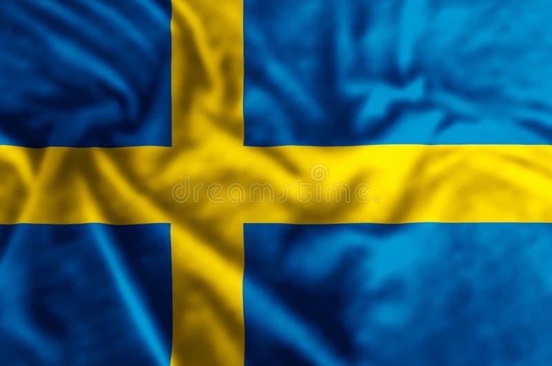 Illustration de drapeau de la Suède illustration de vecteur