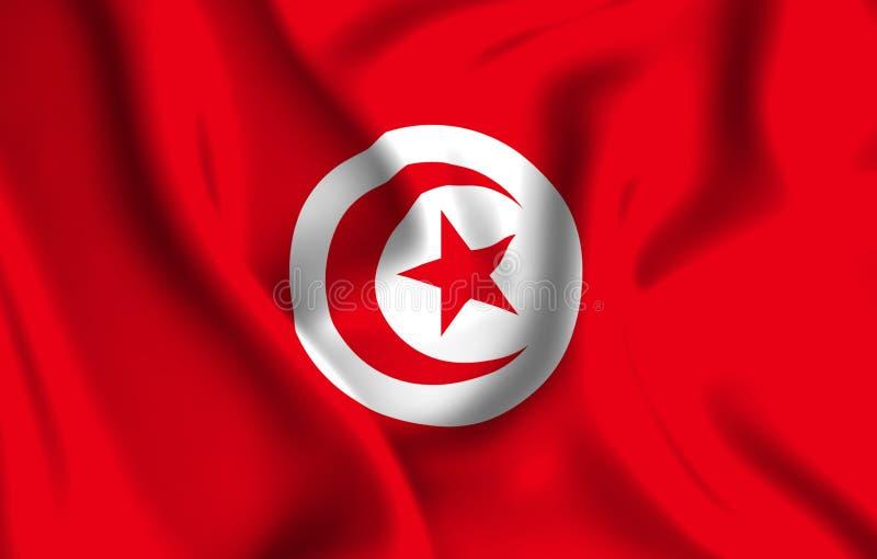 Illustration de drapeau de la Tunisie illustration de vecteur