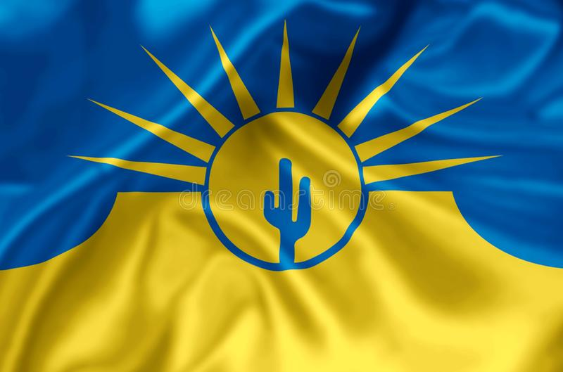 Illustration de drapeau de MESA Arizona illustration de vecteur