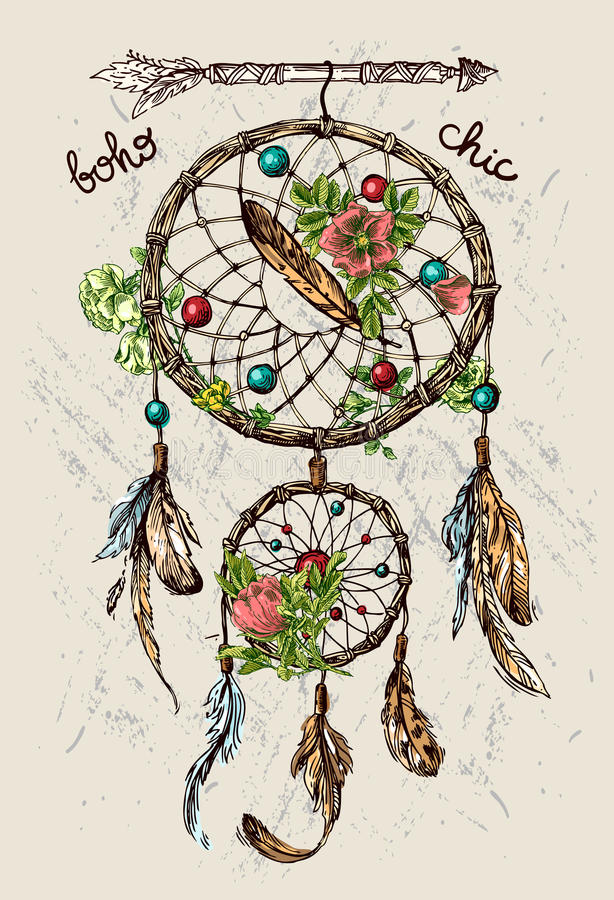 Illustration de dreamcatcher illustration de vecteur