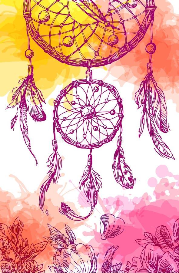 Illustration de dreamcatcher illustration libre de droits