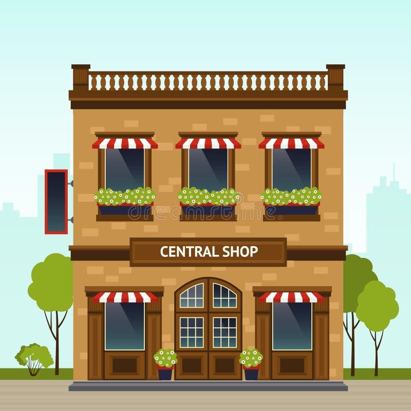 Illustration de façade de boutique illustration stock