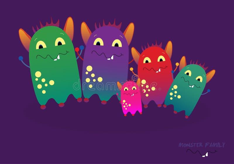 Illustration de famille de monstre photo stock