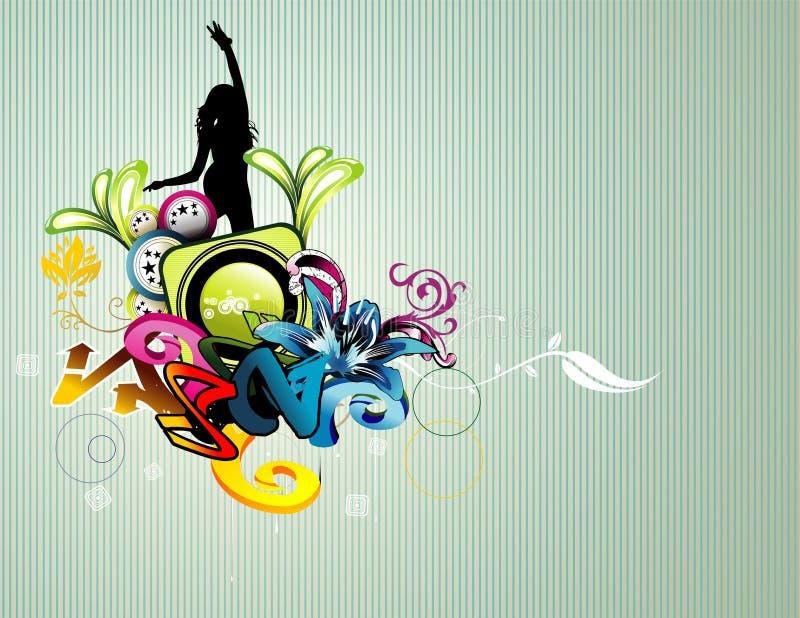 Illustration de femme de fond illustration de vecteur