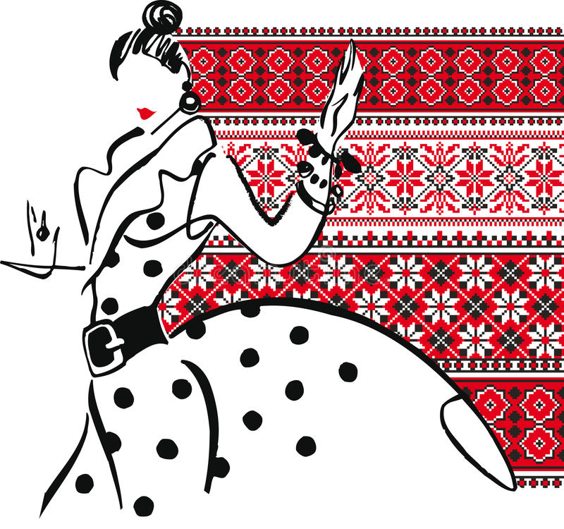 Illustration de femme de mode. illustration de vecteur