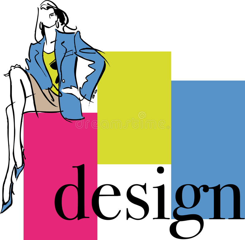 Illustration de femme de mode illustration stock