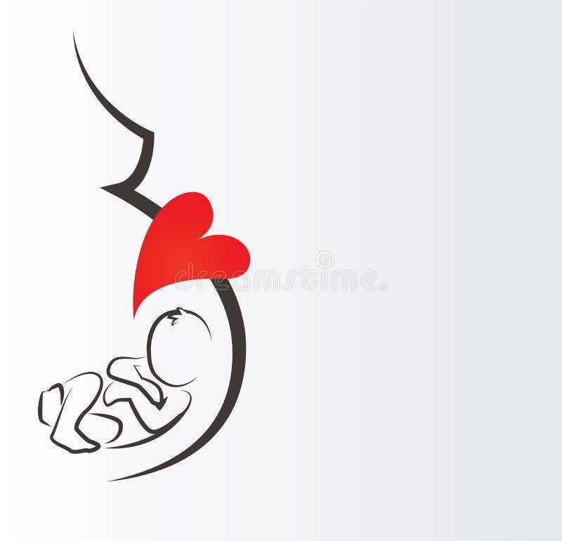illustration de femme enceinte de silhouette affiche et conception de logo illustration de. Black Bedroom Furniture Sets. Home Design Ideas