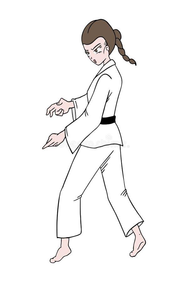 Illustration de femme de karaté illustration libre de droits