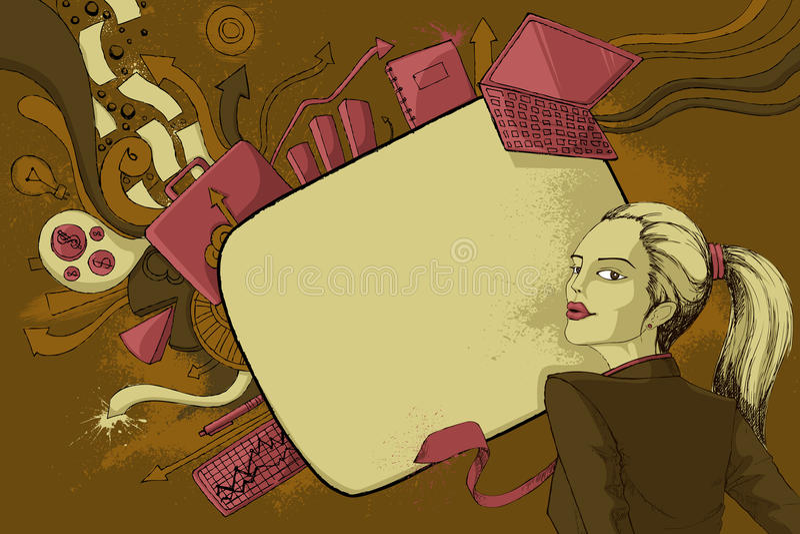 Femme moderne illustration de vecteur