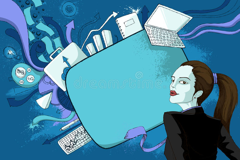 Femme moderne illustration libre de droits