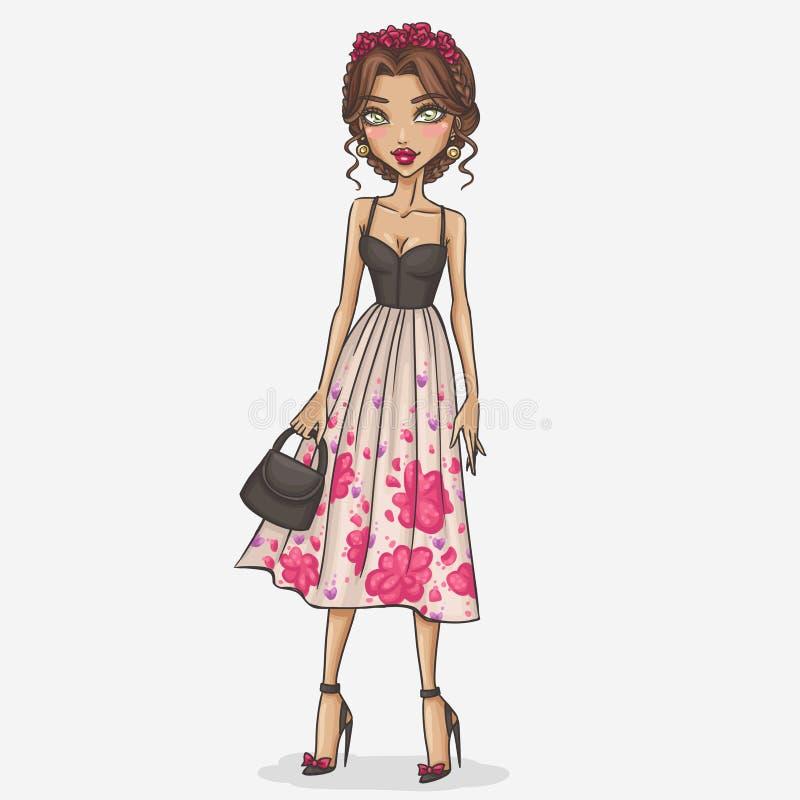 Illustration de fille de mode illustration de vecteur