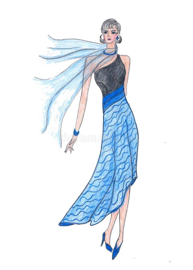 Illustration de fille de mode illustration stock