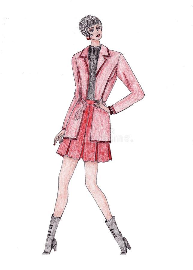 Illustration de fille de mode illustration libre de droits