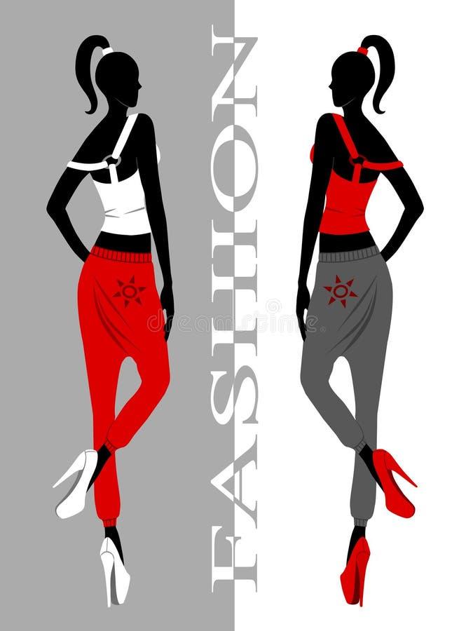 Illustration de filles de mode photographie stock