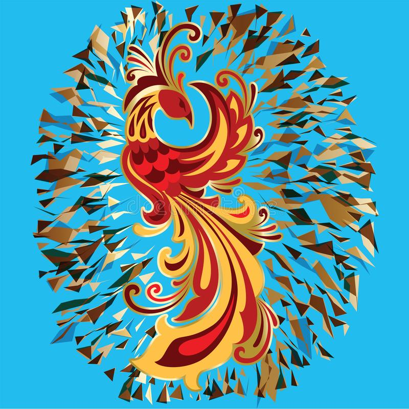 Illustration de Firebird de légende d'oiseau du feu de Phoenix illustration stock