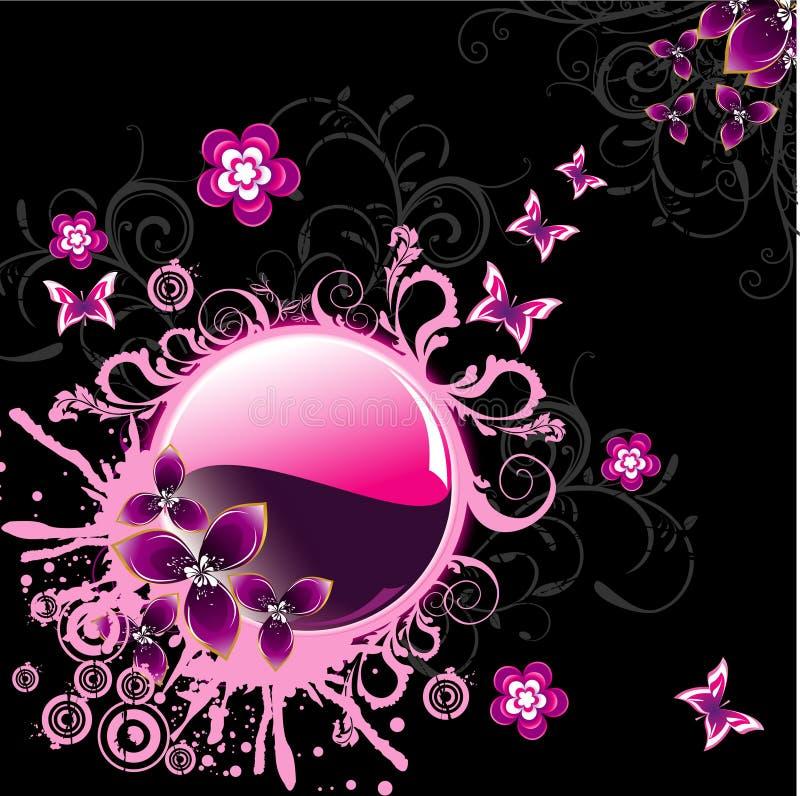 Illustration de fleur d'imagination de vecteur illustration libre de droits