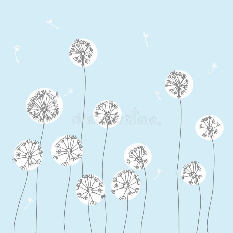 Illustration de fleur de pissenlit illustration de vecteur