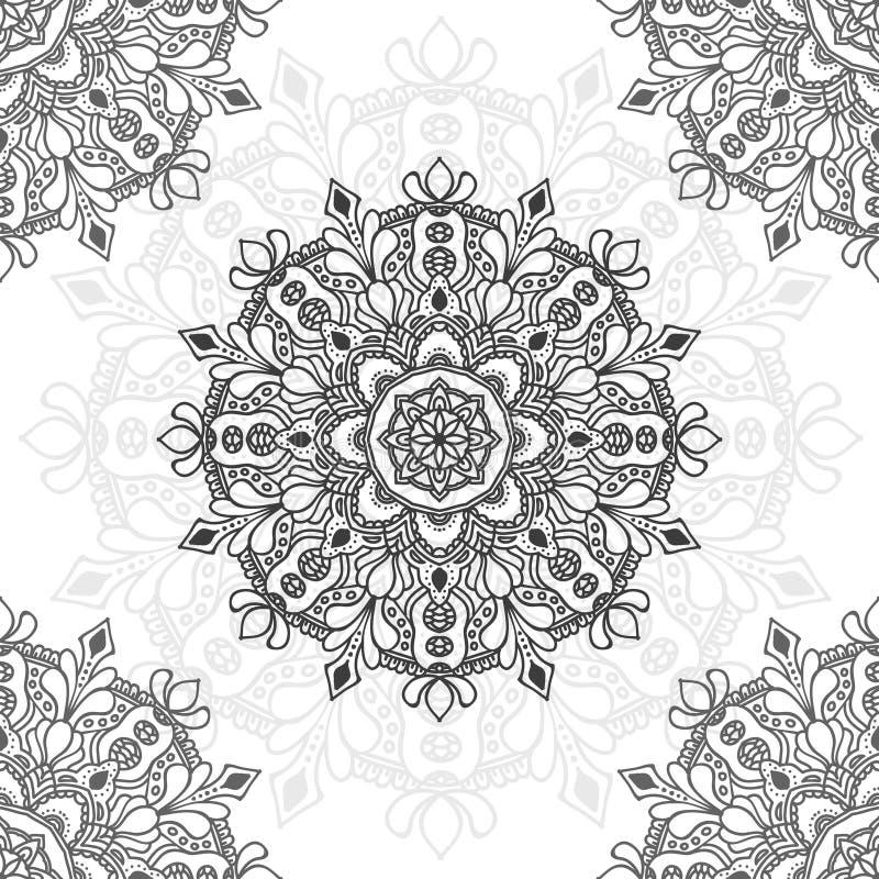 Illustration de fleur de mandala pour le but multiple photo stock