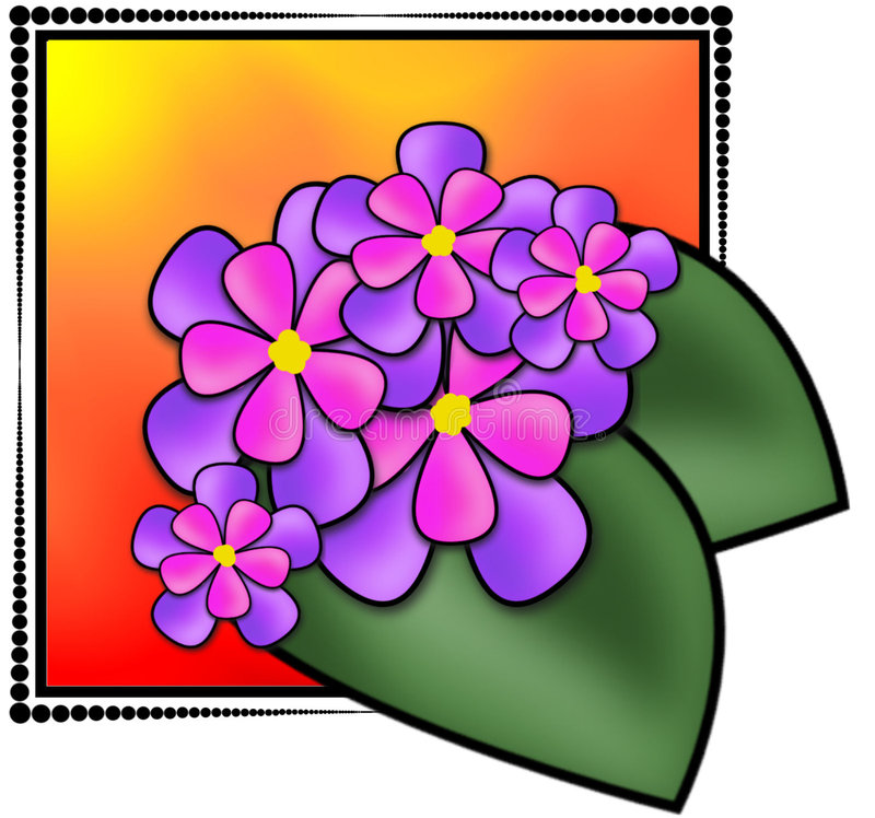Illustration de fleurs illustration libre de droits