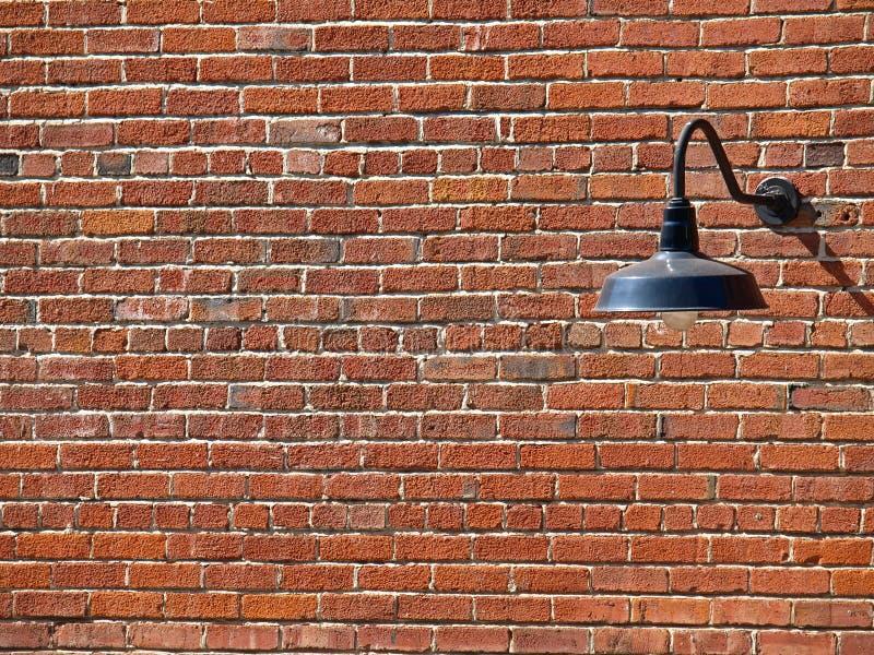 Illustration de fond de lampe sur le mur de briques images stock