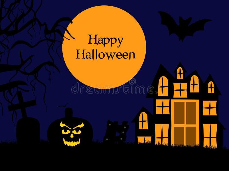 Illustration de fond de Halloween illustration stock
