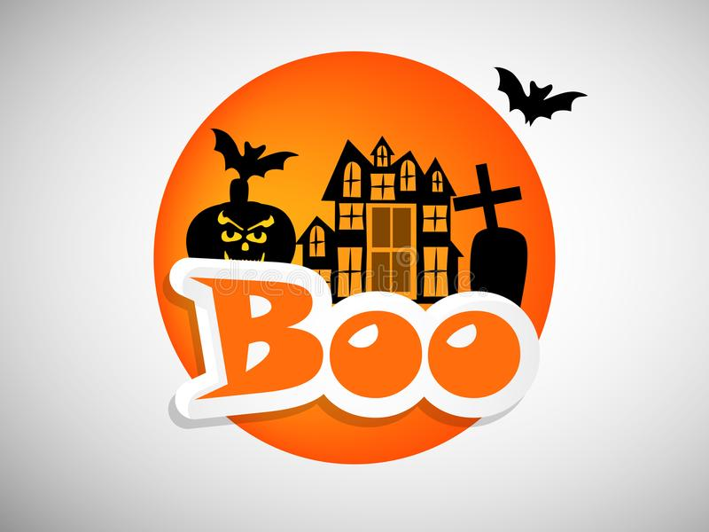 Illustration de fond de Halloween illustration stock