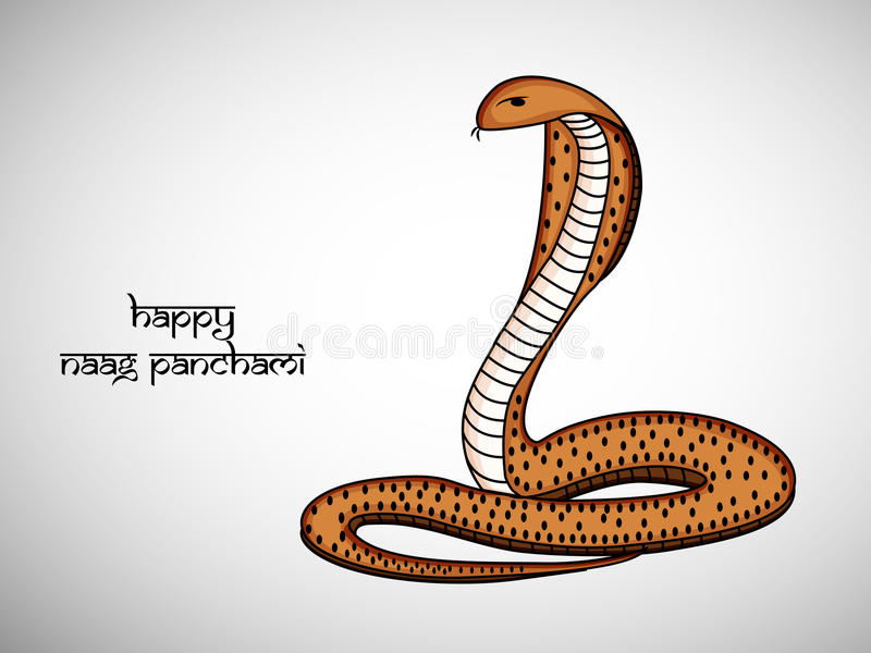 Illustration de fond indou de Naag Panchami de festival illustration stock