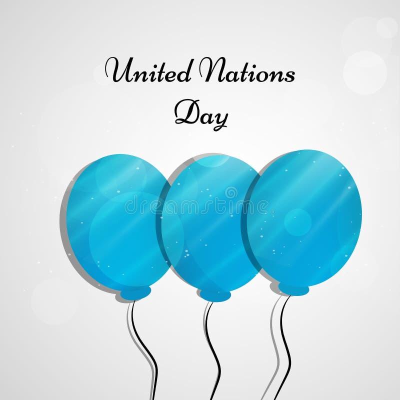 Illustration de fond de jour de Nations Unies illustration stock
