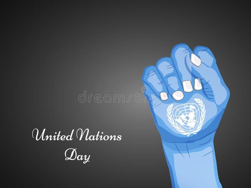 Illustration de fond de jour de Nations Unies illustration libre de droits