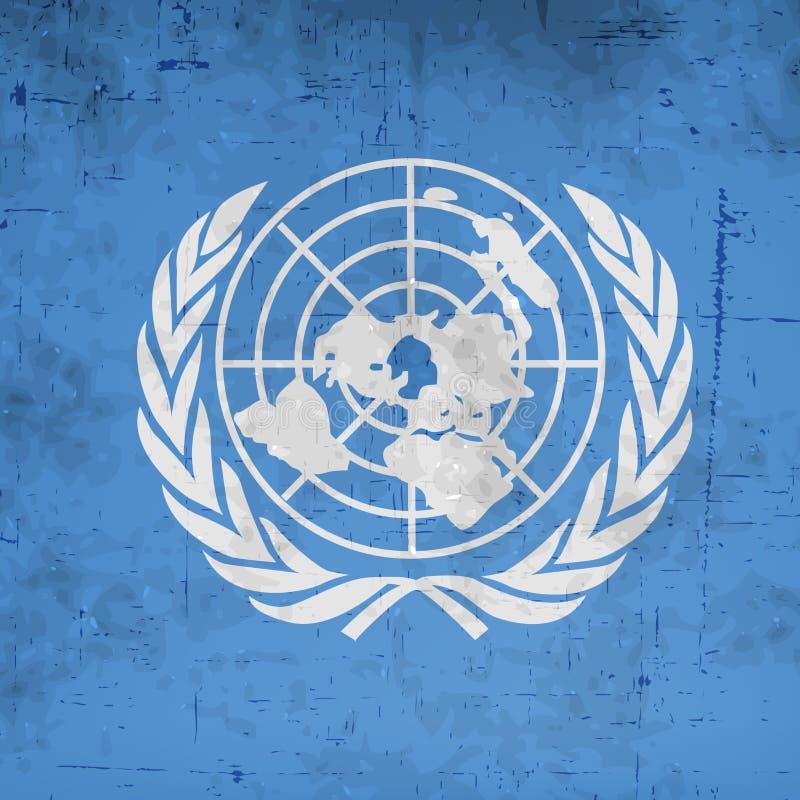 Illustration de fond de jour de Nations Unies illustration de vecteur