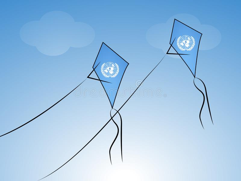 Illustration de fond de jour de Nations Unies illustration libre de droits
