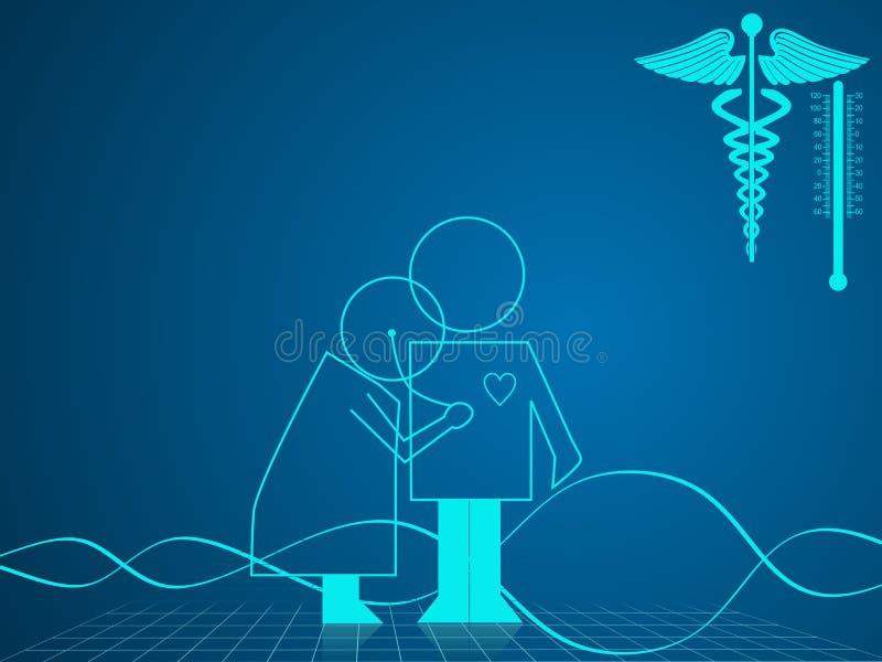 Illustration de fond médical et de soins de santé illustration de vecteur