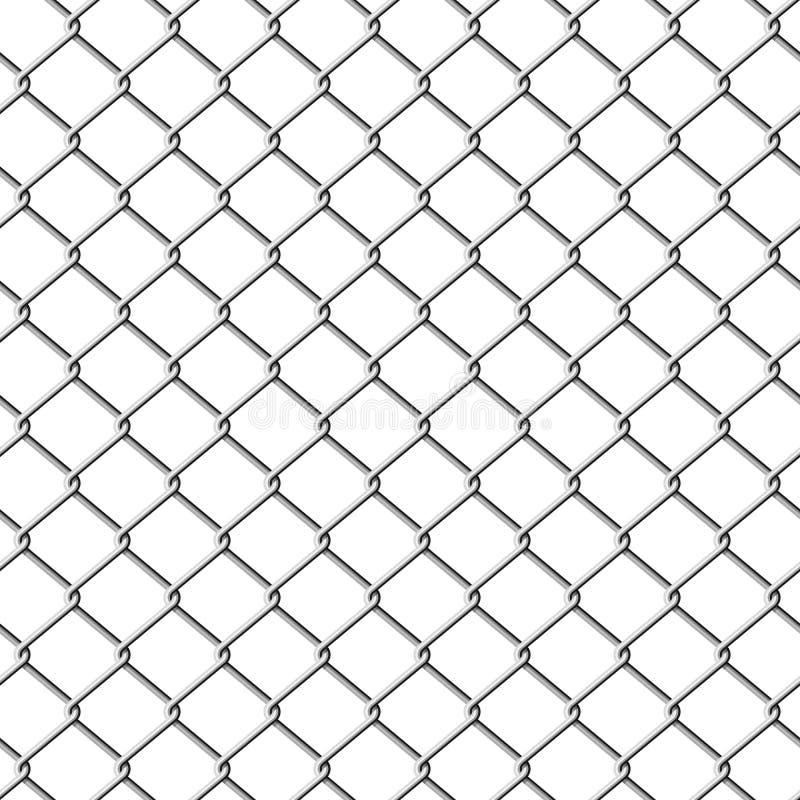 illustration de frontière de sécurité de chainlink sans joint illustration libre de droits
