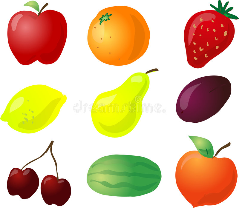 Illustration de fruit illustration stock