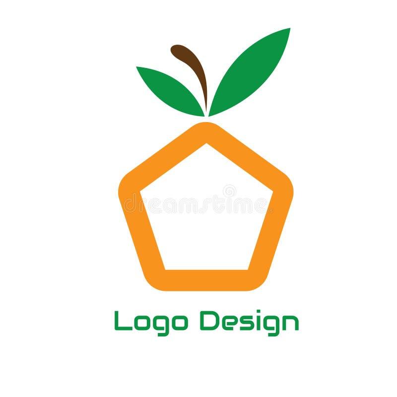 Illustration de fruit du Pentagone pour la conception de logo de fruit illustration de vecteur