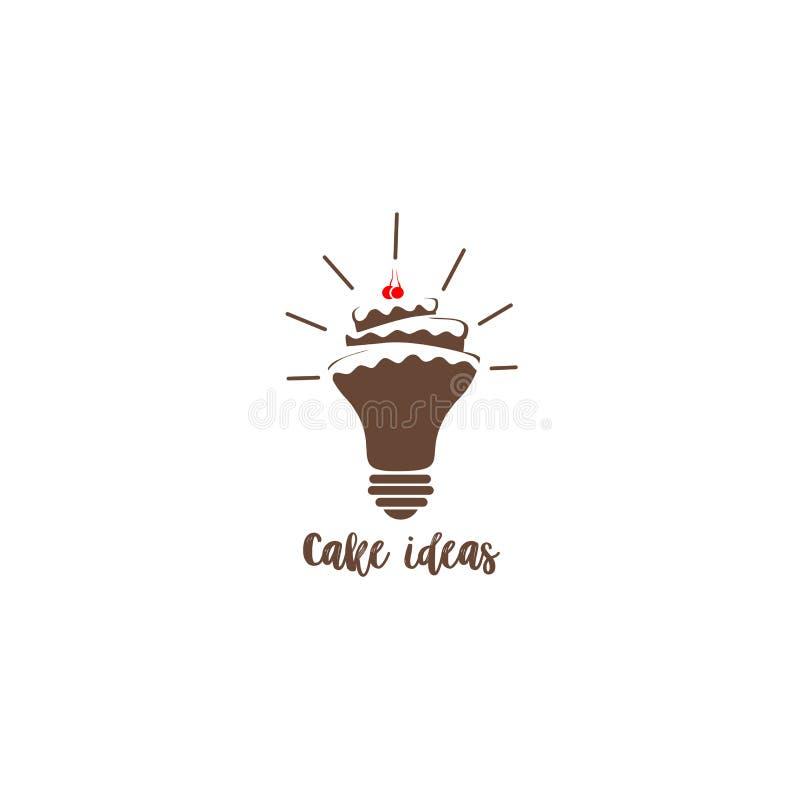 Illustration de gâteau de chocolat de forme d'ampoule illustration de vecteur