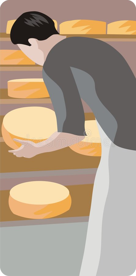 Illustration de générateur de fromage illustration libre de droits