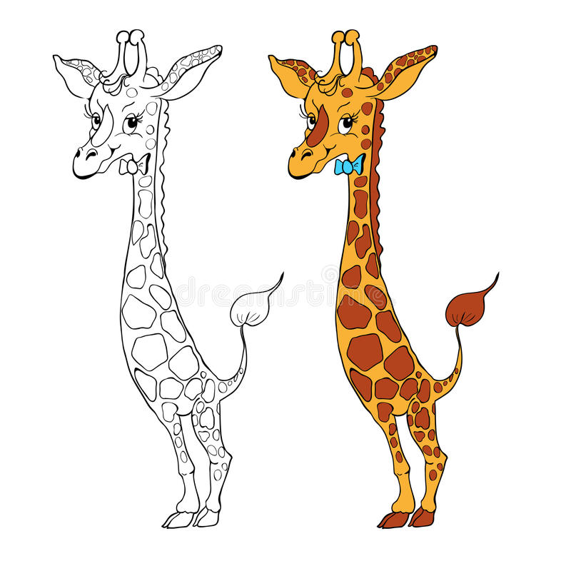 Illustration de giraffe de dessin animé Vecteur illustration stock