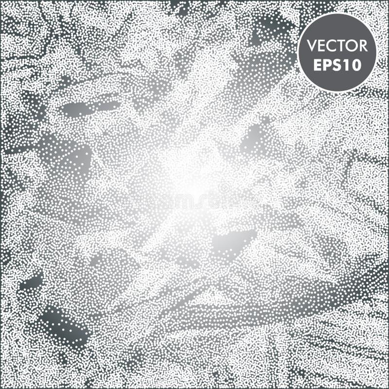 Illustration de glace Fond givré Texture abstraite d'argent d'hiver illustration libre de droits