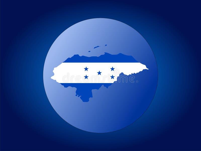 Illustration de globe du Honduras illustration libre de droits