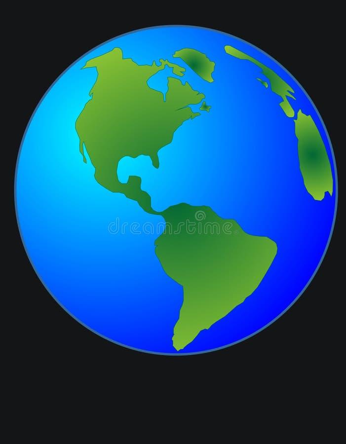 Illustration de globe du monde illustration de vecteur